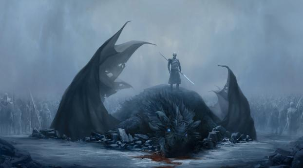 HD Wallpaper | Background Image Night King and Viserion