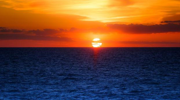 HD Wallpaper | Background Image Ocean Sunset Photography