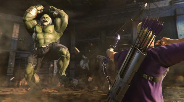 Old Hulk in Marvel's Avengers Game Wallpaper 240x320 Resolution