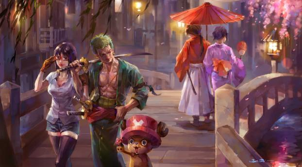 1280x1024 One Piece Painting 1280x1024 Resolution Wallpaper