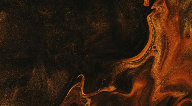 Orange 5K Liquefied Wallpaper