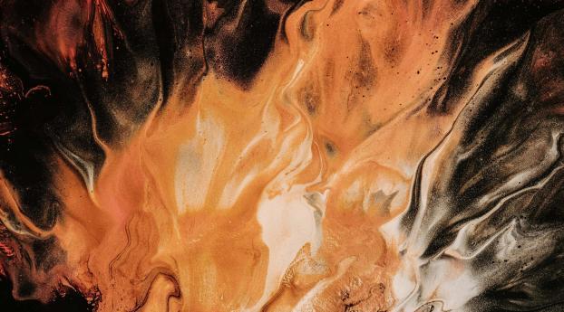 HD Wallpaper | Background Image Orange Color Glitch