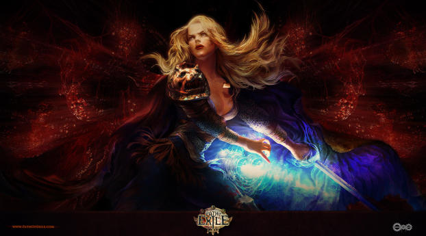Path Of Exile Game Poster Wallpaper