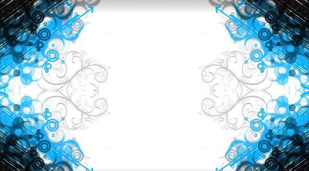 patterns, blue, white Wallpaper 1920x1200 Resolution