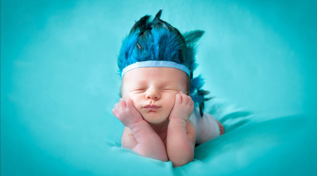 Photoshoot of Cute New Born Baby Wallpaper 240x320 Resolution