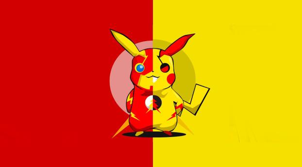HD Wallpaper | Background Image Pikachu x Flash