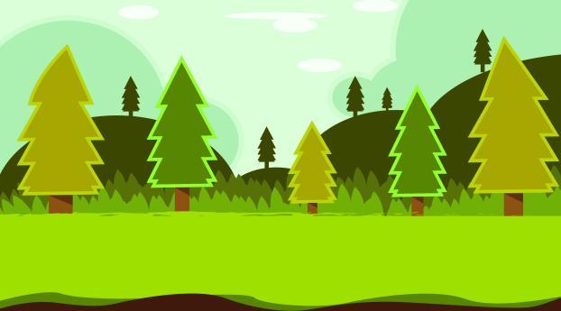 HD Wallpaper | Background Image Pine Trees Vector Art