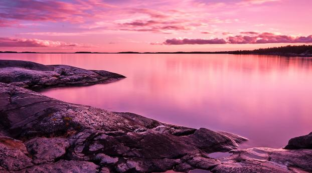 HD Wallpaper | Background Image Pink Lake 8K
