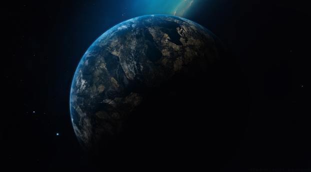 1125x2436 Planet Earth In Dark Universe Iphone Xs Iphone 10