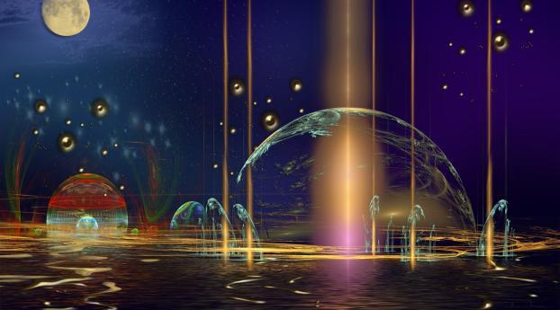 planet, imagination, background Wallpaper