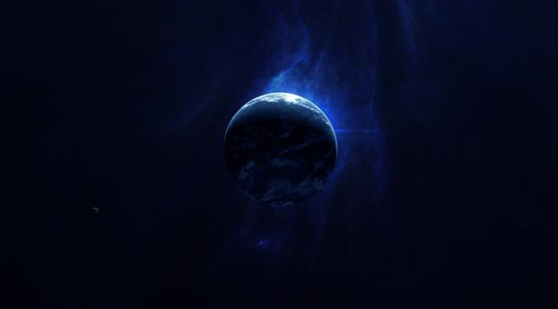 Planet In Space 4K Wallpaper in 480x854 Resolution
