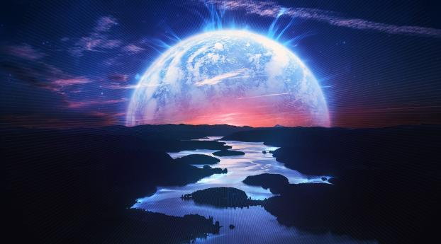 HD Wallpaper | Background Image Planet Rising