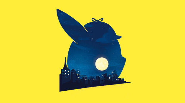 HD Wallpaper | Background Image Pokémon Detective Pikachu Movie Minimalist Poster