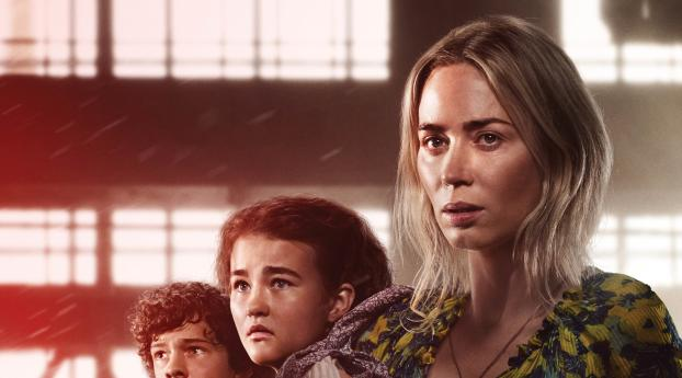 Poster Of A Quiet Place II Wallpaper