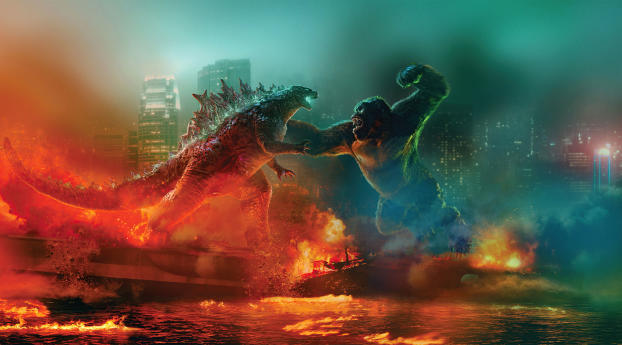 Poster of Godzilla vs Kong Wallpaper