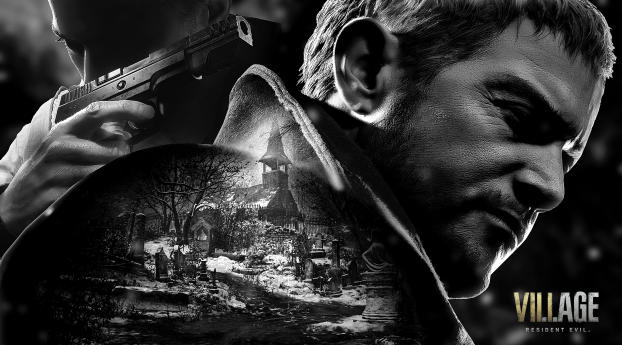 Poster of Resident Evil 8 Village Wallpaper 1336x768 Resolution