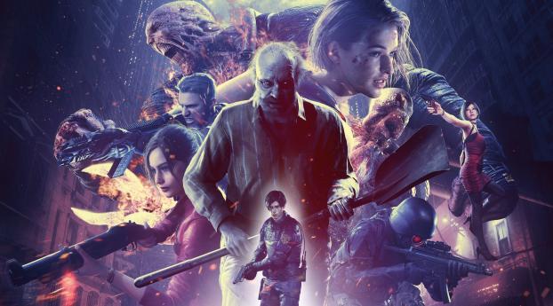 Poster of Resident Evil Re Verse 4K Wallpaper