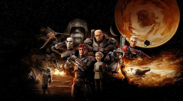 Poster of Star Wars The Bad Batch Wallpaper 480x800 Resolution