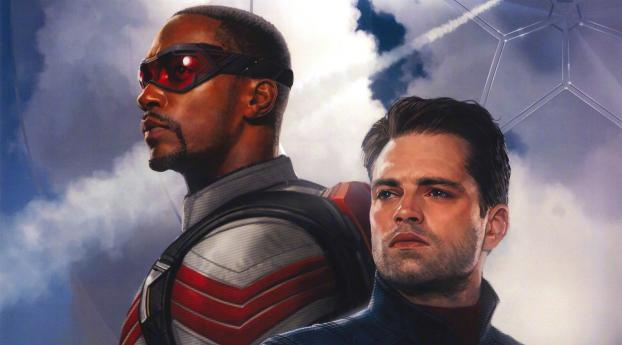 Poster of The Falcon and the Winter Soldier MCU Wallpaper