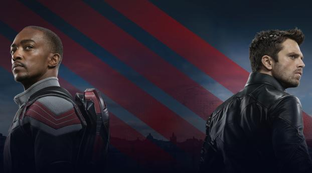 Poster of The Falcon and the Winter Soldier Wallpaper