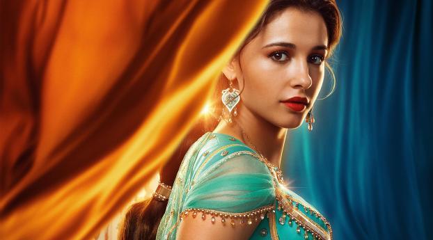 HD Wallpaper | Background Image Princess Jasmine in Aladdin Movie 2019