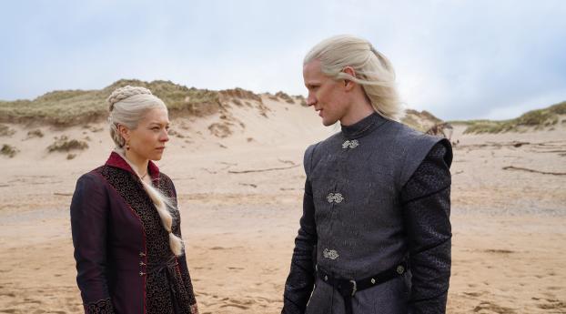 Princess Rhaenyra Targaryen & Prince Daemon Targaryen House of the Dragon Wallpaper