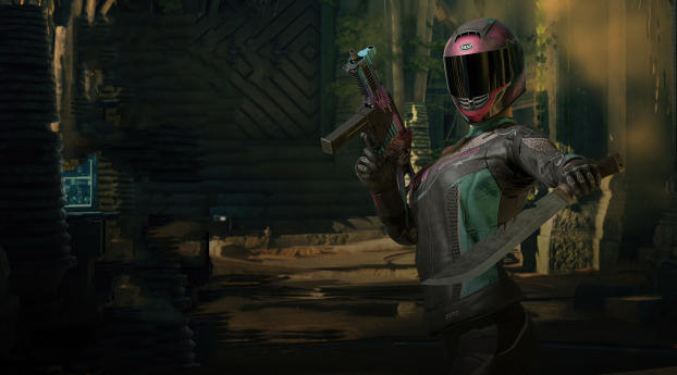 PUBG Cyborg Warrior Girl Wallpaper 2880x1800 Resolution