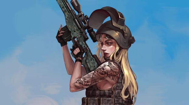 HD Wallpaper | Background Image PUBG Fanart Sniper