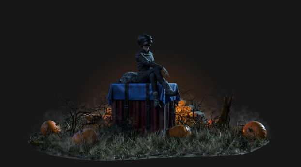 HD Wallpaper | Background Image PUBG Halloween Pumpkin