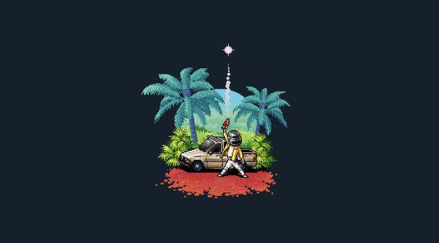 PUBG Pixel Art Wallpaper