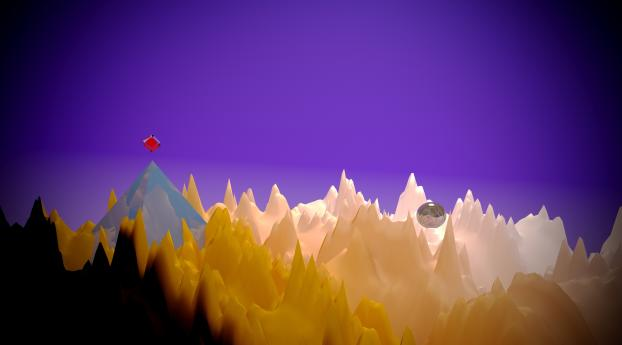 HD Wallpaper | Background Image Pyramid Space Low Poly Art