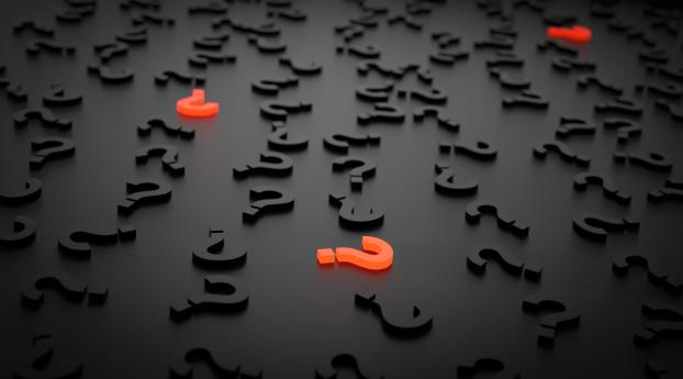 question marks, figures, 3d Wallpaper in 1360x768 Resolution