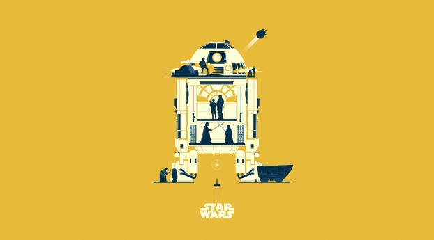 HD Wallpaper | Background Image R2 D2 Star Wars Minimalist
