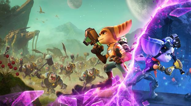 Ratchet & Clank A Dimension Separate Wallpaper