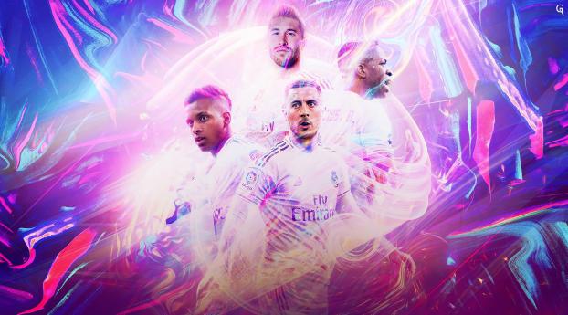 Real Madrid CF Poster Wallpaper 1280x2120 Resolution