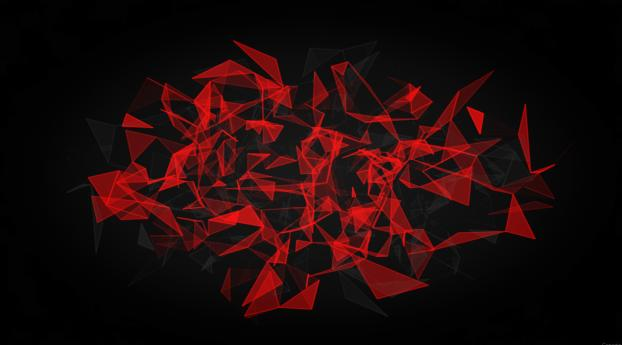 Red And Black Polygon Wallpaper