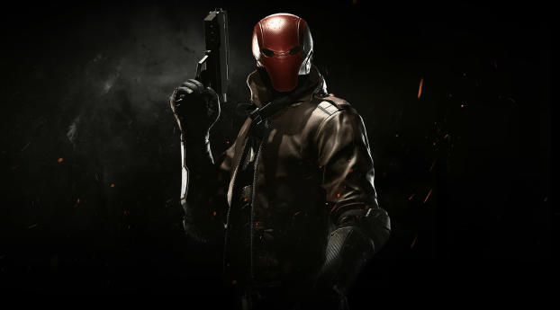 Red Hood In Injustice 2 Wallpaper 320x240 Resolution