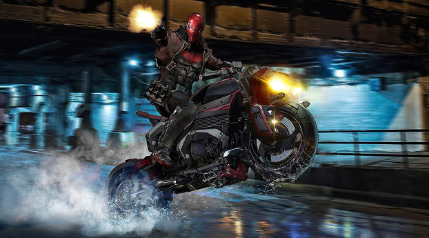 HD Wallpaper | Background Image Red Hood On Bike