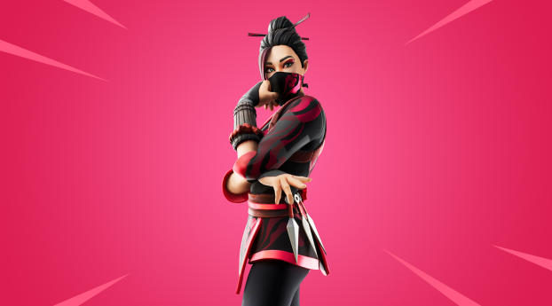 Red Jade Skin Fortnite Outfit Wallpaper 1920x1080 Resolution