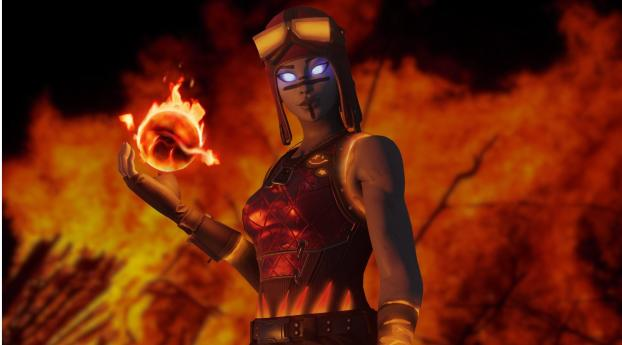 Renegade Flame Blaze Fortnite Art Wallpaper 480x484 Resolution