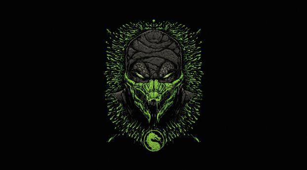 HD Wallpaper | Background Image Reptile Mortal Kombat Minimal