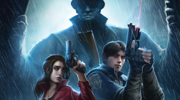 480x854 Resident Evil 2 Game Poster Android One Mobile
