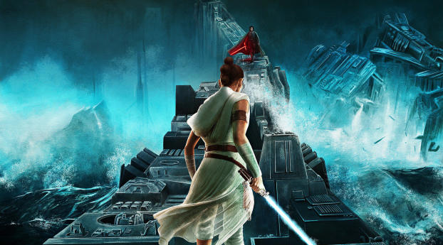 Rise Of Skywalker Star War Poster Wallpaper