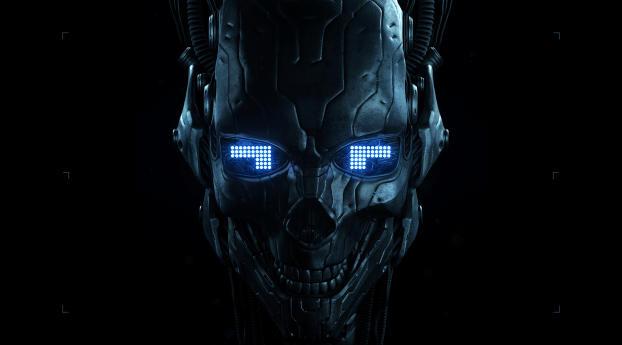 HD Wallpaper | Background Image Robot Skull