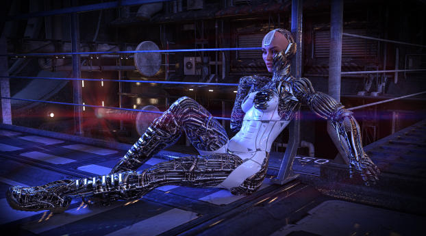 HD Wallpaper | Background Image Robot Woman Cyberpunk