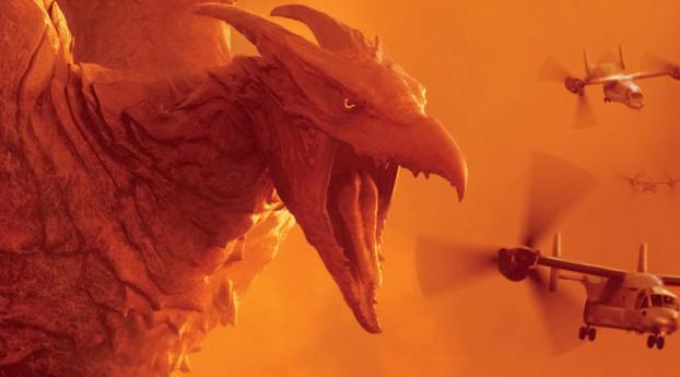 Rodan In Godzilla King of the Monsters 4k 8k Wallpaper 1440x2960 Resolution