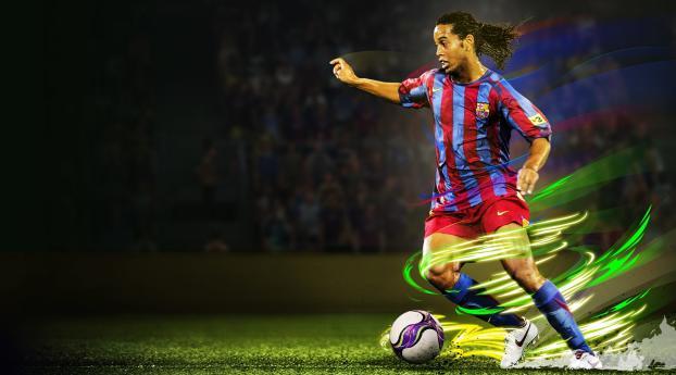 HD Wallpaper | Background Image Ronaldinho In eFootball Pro Evolution Soccer 2020
