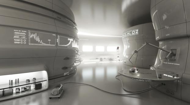 room, robots, laboratory Wallpaper