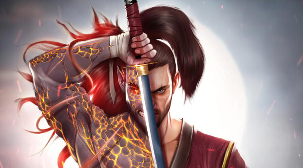 HD Wallpaper | Background Image Samurai Warrior 4K