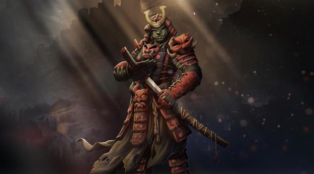 HD Wallpaper | Background Image Samurai Warrior Art